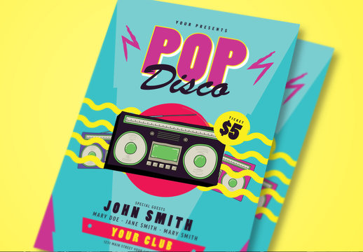 Pop Disco Music Flyer