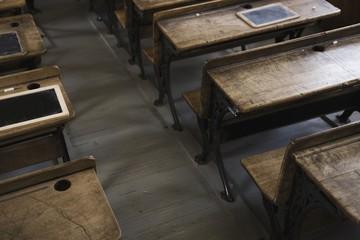 Camrose, Alberta, Canada; Old School Desks