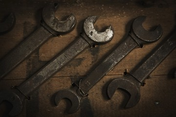 Camrose, Alberta, Canada; Old Wrenches