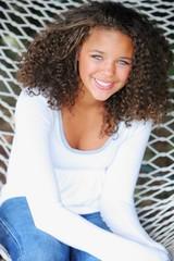 A Young Woman On A Hammock; Oregon, Usa
