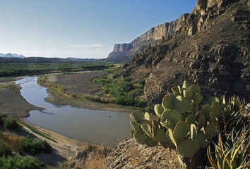 Rio Grande Where It Exits Santa Elena Canyon, Texas, Usa