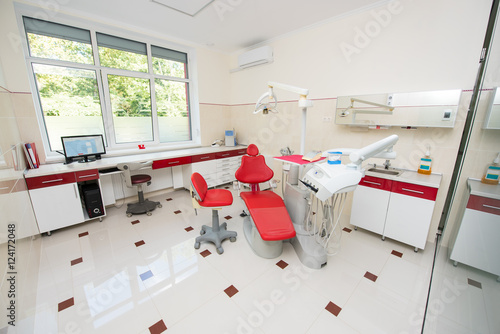 Dental Clinic With Modern Interior Design And Big Window Dental