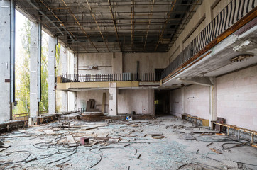 Evakuierte Stadt Prypjat bei Chernobyl