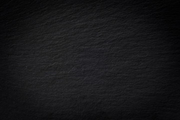 Black empty slate plate