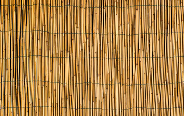 Hay or dry grass background / Thatch roof for background / dried straw or cane
