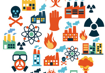 Biohazard, Nuclear, and Power Plant Icon Set