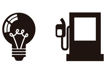 9 Black and White Energy Icons