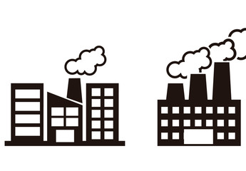 9 Black and White Industrial Building Icons