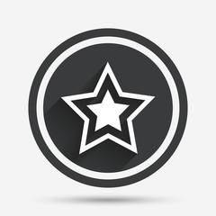 Star sign icon. Favorite button. Navigation.