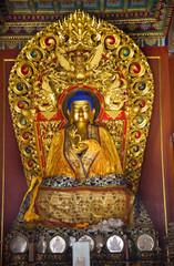 Blue Buddha Hands Details Yonghe Gong Buddhist Temple Beijing Ch