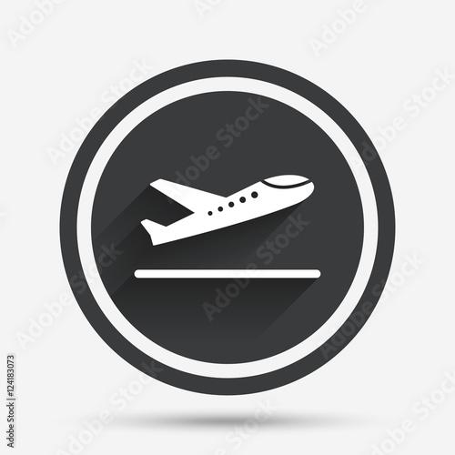 Plane Takeoff Icon Airplane Transport Symbol Stock Image And