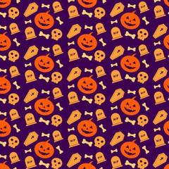 Creative halloween pattern flat background vector illustration