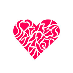 Vector hearth love ornamentation sign illustration