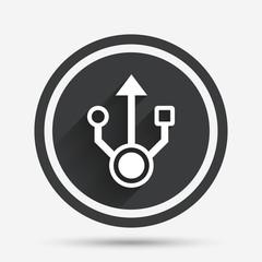 Usb sign icon. Usb flash drive symbol.