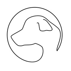 silhouette face dog icon design vector illustration eps 10