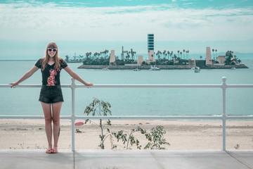 Girl at Long Beach, Los Angeles