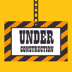 under construction template icon vector illustration eps 10