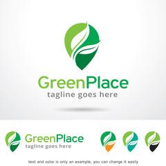 Green Place Logo Template Design Vector