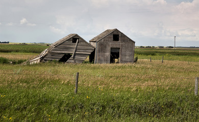 Weathered Wooden Buildings