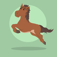horse jumping vector illustration design