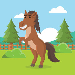 horse character vector illustration design