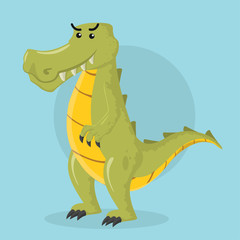 crocodile vector illustration design