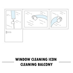 Window cleaning icon.