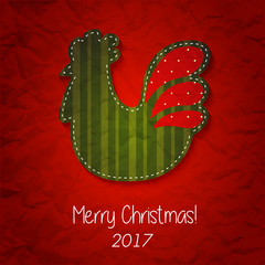 greeting card Happy New Year and Merry Christmas