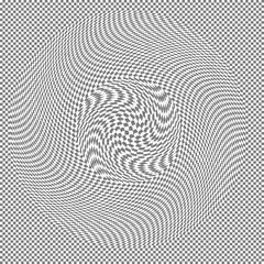 Swirl effect on regular transparency grid vector illustration