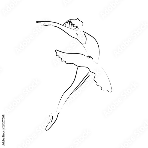 Line Drawing Dancer : Quot abstract line art ballerina dancer performance classical