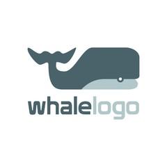 Ocean Logo Templates. Blue Whale