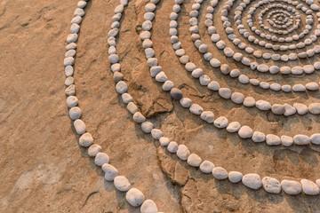 Radius of pebbles
