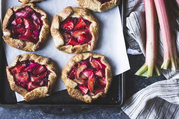 Strawberry Rhubarb Galettes