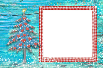 Christmas one photo frame kinder card