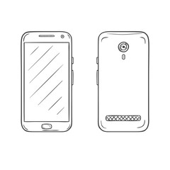 Vector sketch of smartphone