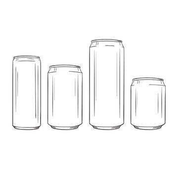 Vector sketch of iron can