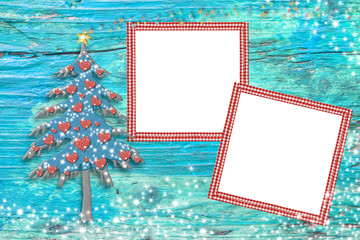 Christmas tree photo frames cards