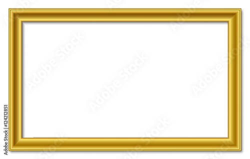 16to9 16:9 panorama wide golden vector retro picture frame isolated ...