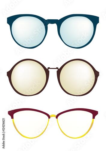 quot fashion glasses frame different styles set eyeglasses