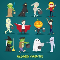 Halloween characters. Halloween vector illustration