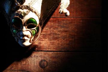Mask On Wood