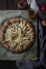Apple galette rum spiced dulce de Leche