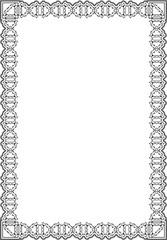 Baroque elegant frame