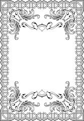 Baroque elegant art frame