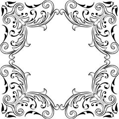 Baroque fine art swirl page
