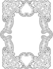 Art luxury swirl frame