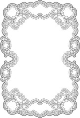 Art ornate swirl frame