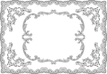 Baroque ornate swirl page