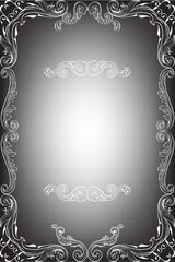 Greeting art nice ornate frame