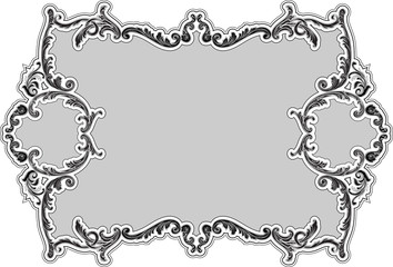 The decor ornate luxury swirl frame
